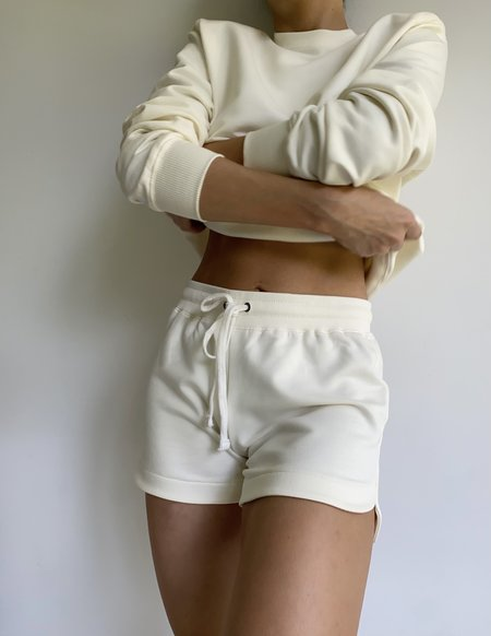 Parentezi French Terry Shorts - Off White