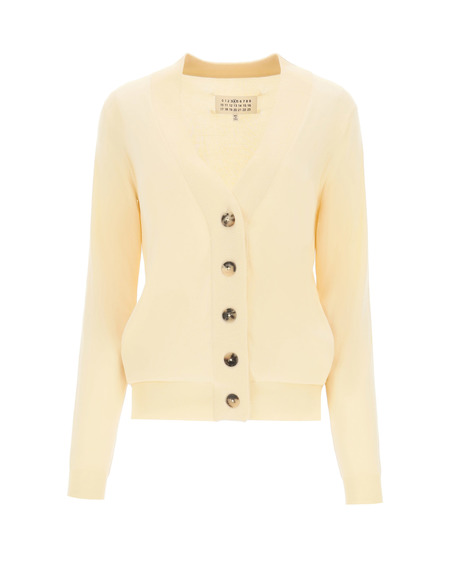 MM6 Maison Margiela Cardigan with Embroidery - Beige