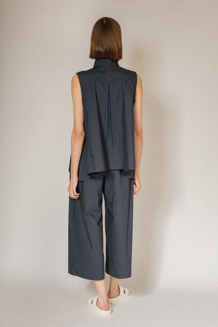 Oyuna Yanda Woven Wide-Leg Maxi Trousers - Deep Ocean