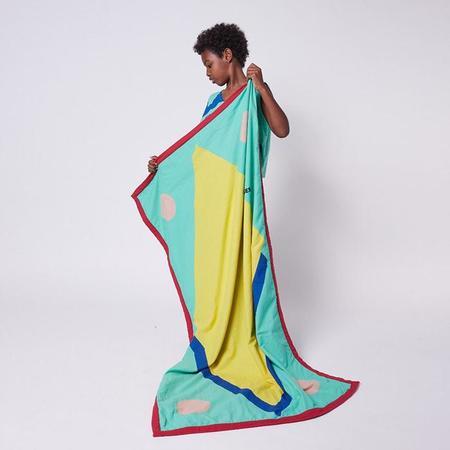 kids Bobo Choses Geometric Print Beach Towel - Multicolour