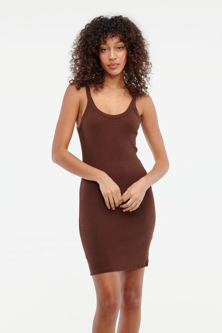 Lacausa Maya Slip Dress - Chocolate