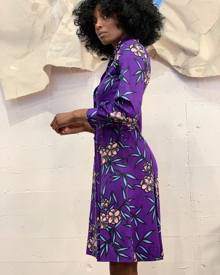 Vintage Hanae Mori Floral Dress