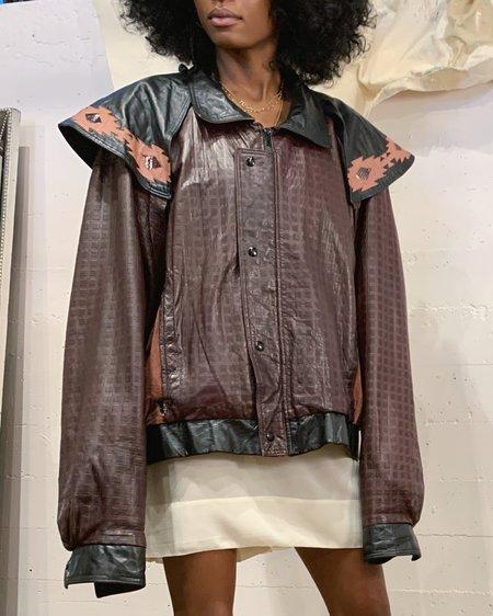 Vintage Mixed Media Cape Jacket