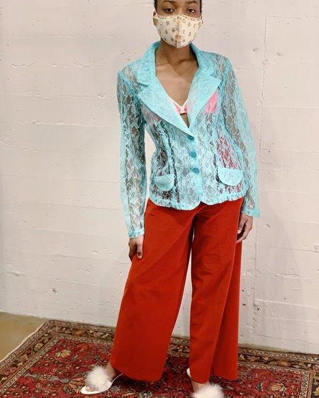 Vintage Lace Jacket - Ocean
