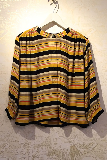 The Great 'Wayfarer' Bolero Stripe Silk Top