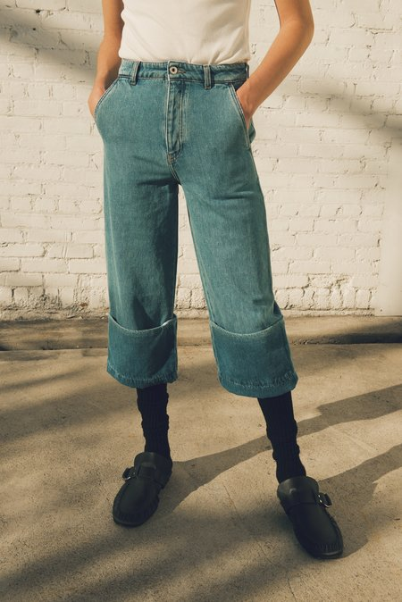 LOEWE Relaxed Fit Fisherman Jeans - Light Blue Indigo