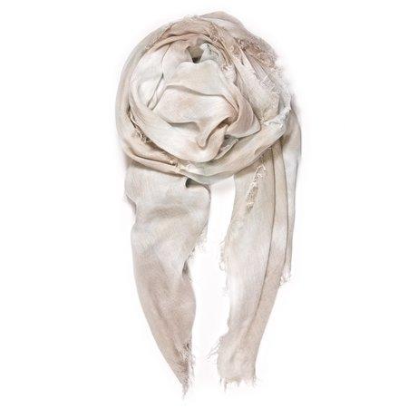 Fig & Belle Double Knot Scarf - Ecru/Pale Aqua