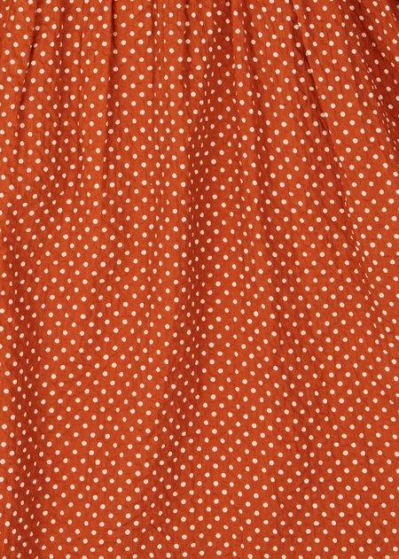 kids Caramel Marlin Sunhat - Rust Dot