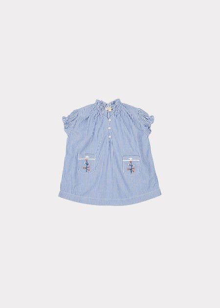 kids Caramel Urchin Baby Dress - Blue/White Stripe