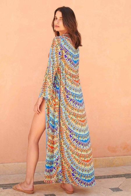 Paolita Calliope Long Sleeve Kimono Dress - Multi