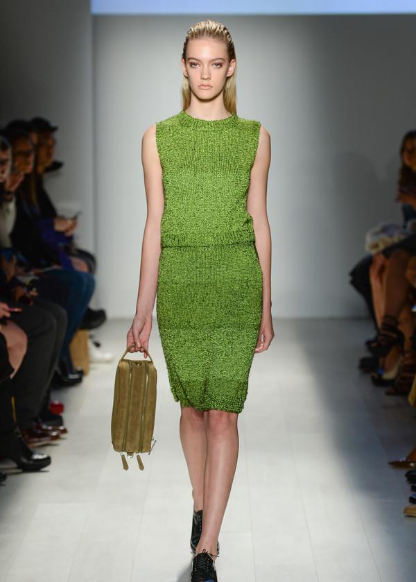 Malorie Urbanovitch Hand Knit Acid Skirt