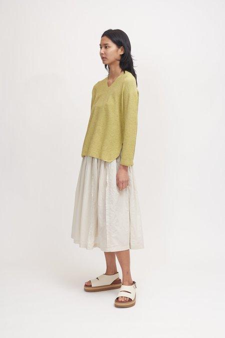 Pas de Calais Organic Cotton and Yak Pullover - Yellow