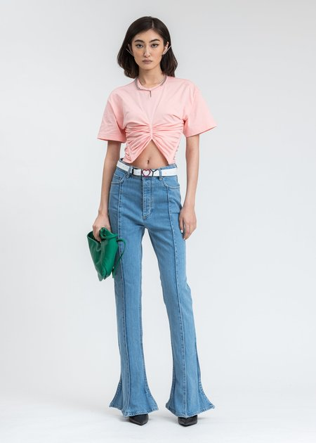 Y/project Ruched Corset T-shirt - Pink