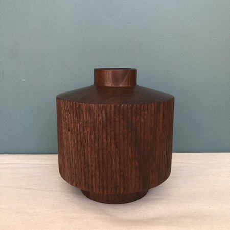 Hanna Dausch Hand Carved Walnut Vase 08 - Natural