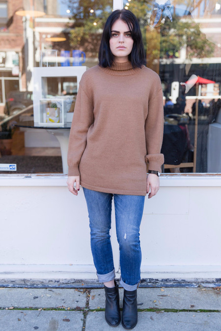 Osei-Duro Alpaca Turtleneck Tunic in Camel