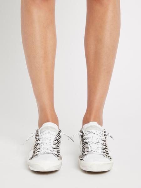 Philippe Model Prsx Low Sneaker - Glitter Animalier Blanc