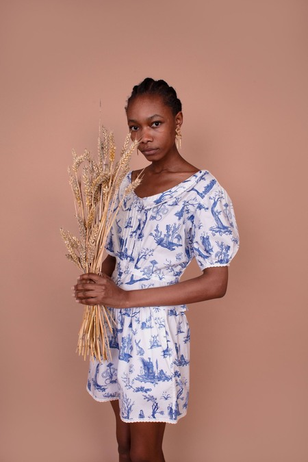 Meadows Mallow Shirt - Toile De Jouy