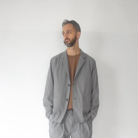 Still By Hand Relaxed 2 Button Jacket - Blue Grey
