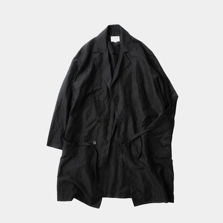 Still By Hand Wrap Coat - Black