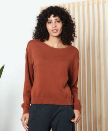 Known Supply Palmer Spring Sweater - Cinnamon