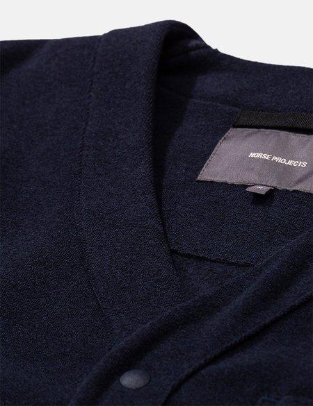 Norse Projects Vidar Fleece Jacket - Dark Navy Blue