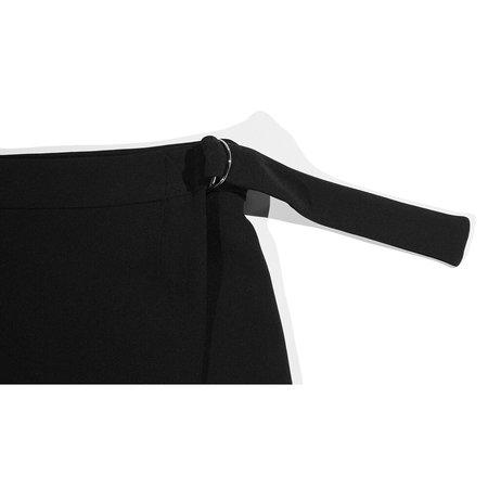 Nomia Zip Pocket Wrap Skirt - Black
