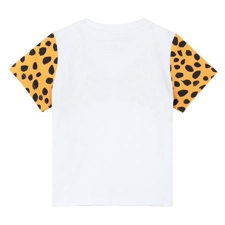 Kids Stella McCartney T-shirt With Cheetah Face Print - White