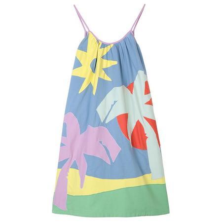 Kids Stella McCartney Dress With Patchwork Palm Tree - Multicolour