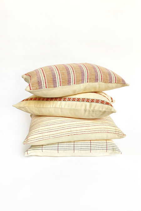 Roshni Organic Handwoven Pillow - Natural