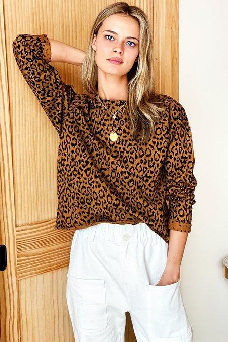 Emerson Fry Raw Edge Raglan Sweatshirt - Vintage Leopard