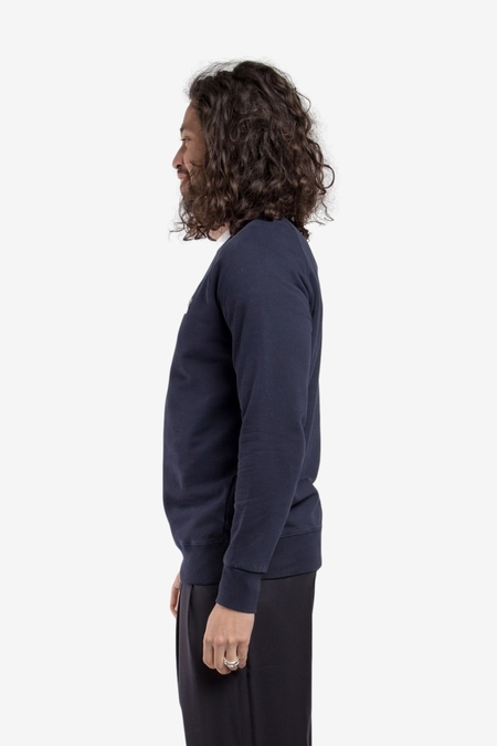 Maison Kitsuné Fox Head Patch Classic Sweatshirt - Navy