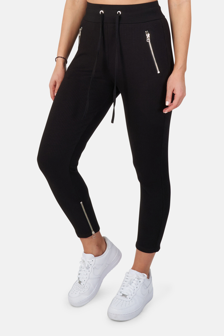 The Range Alloy Rib Zip Pants - Black