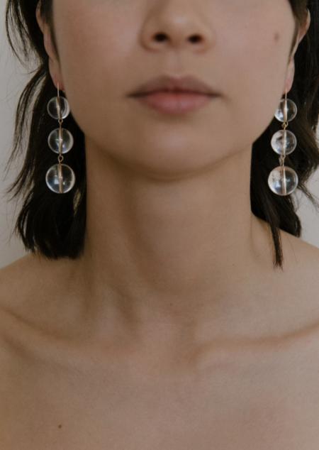 Vermeer Studio selma drops - Gold/Clear quartz
