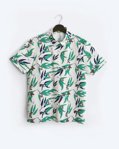 Poplin & Co. Wild Flowers Button Up Short Sleeve Shirt