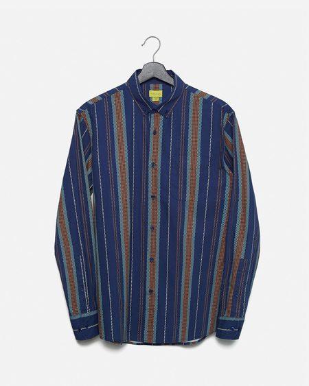 Poplin & Co. Nautical Stripe Button Down Long Sleeve Shirt