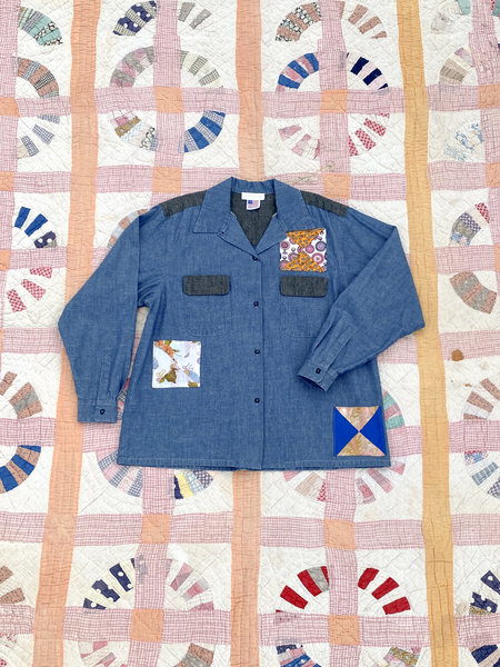 Carleen Patchwork Chambray Shirt