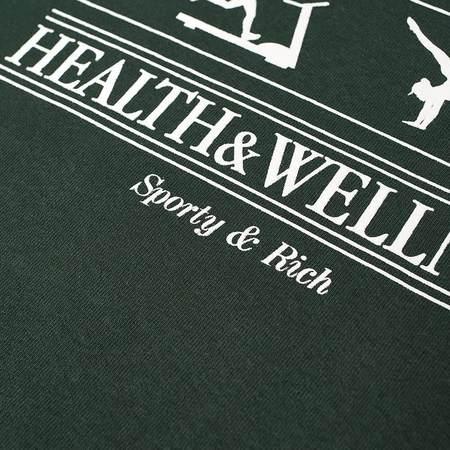 Sporty & Rich Health & Wellness Crewneck - Forest Green