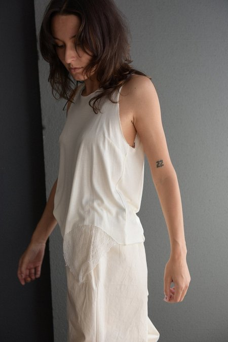 Raquel Allegra Muscle Tank with Shredding