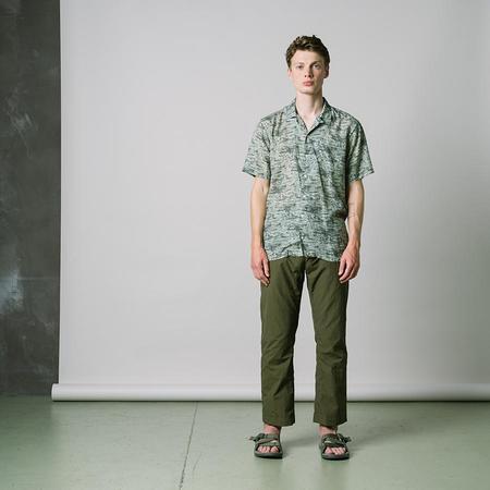 Kestin Crammond Vacation Shirt - Light Olive/Lagoon