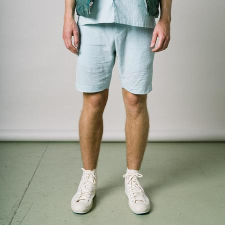 Kestin Inverness Shorts - Mint Seersucker