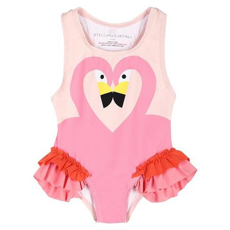 Kids Stella McCartney Flamingo Swimsuit With Frills - Pink