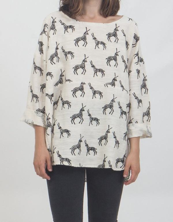 PO-EM Everyday Top, Block Print