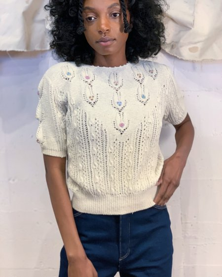 Vintage Embroidered Sweet Sweater