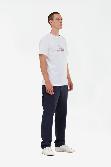 Norse Projects Niels canoe adventure top - white