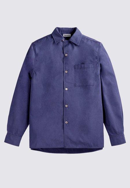 Reception Bowling Long Sleeve Shirt - work blue
