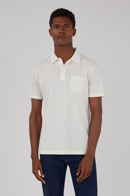 Sunspel Riviera polo shirt top - archive white