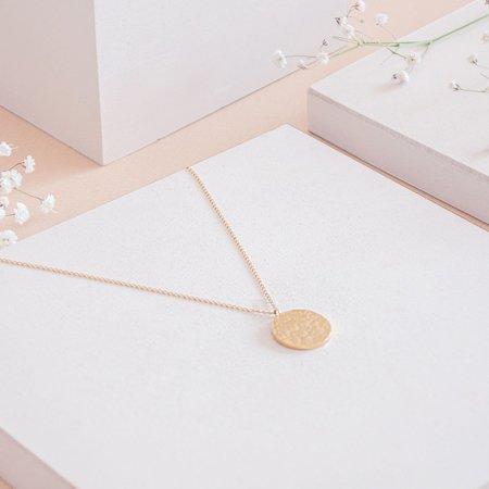 TheCanoShoe ANA Hammered Necklace - Gold