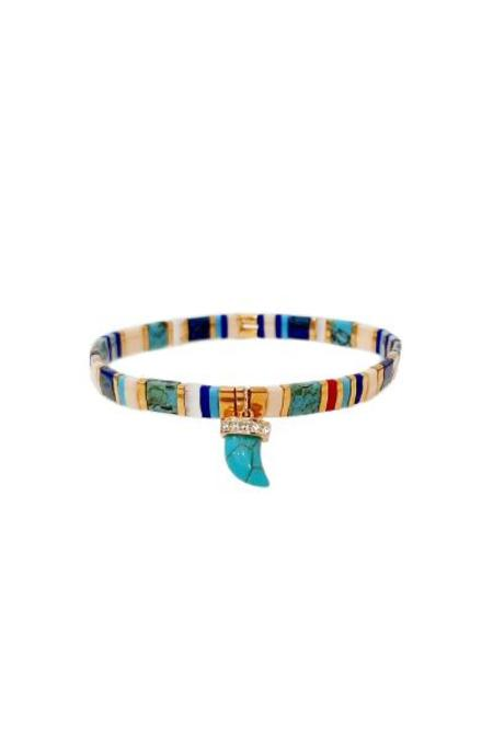 tai Horn Charm Beaded Bracelet