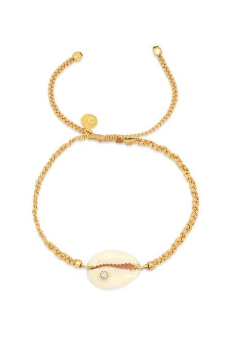 tai Seashell Pull Tie Braided Bracelet