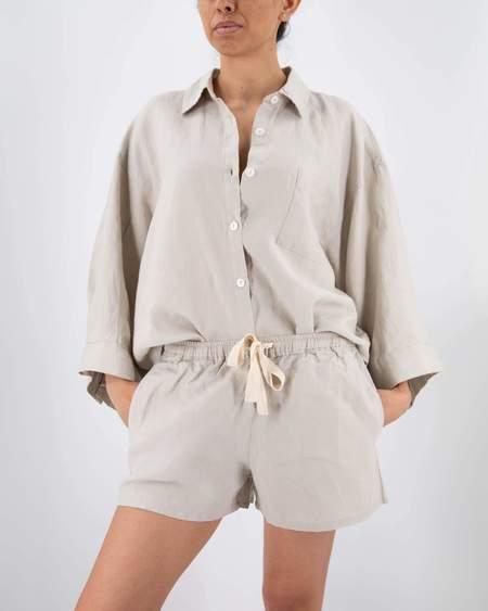 Sunday Morning French Linen Set - gray